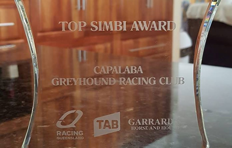 Top Simbi Award at the Greyhound Of The Year Awards March 2019.
